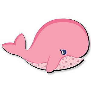 Tale Of A Girl Whale - Baby Girl Nursery and Kids Room Home Decorations - Shaped Wall Art - 1 Piece