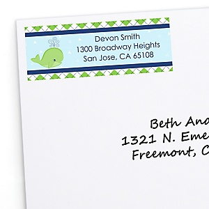 Tale Of A Whale - Personalized Party Return Address Labels - 30 ct
