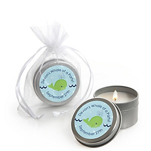 Tale Of A Whale - Personalized Party Candle Tin Favors - Set of 12