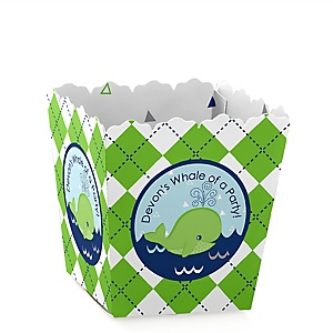 Tale Of A Whale - Party Mini Favor Boxes - Personalized Party Treat Candy Boxes - Set of 12