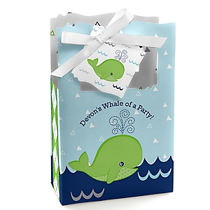 Tale Of A Whale - Personalized Party Favor Boxes - Set of 12