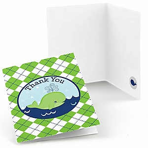 Tale Of A Whale - Party Thank You Cards - 8 ct