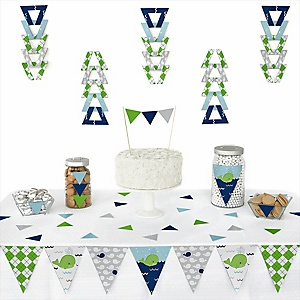 Tale Of A Whale -  Triangle Party Decoration Kit - 72 Piece