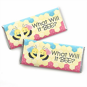 What Will It BEE? -  Candy Bar Wrappers Party Favors - Set of 24