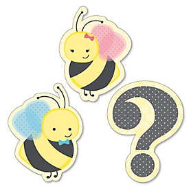 What Will It BEE? - DIY Shaped Party Paper Cut-Outs - 24 ct