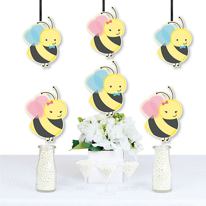 What Will It BEE? - Decorations DIY Gender Reveal Essentials - Set of 20