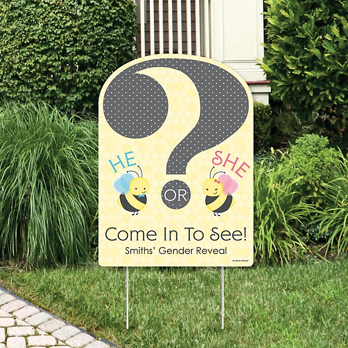 What Will It BEE? - Party Decorations - Gender Reveal Party Personalized Welcome Yard Sign