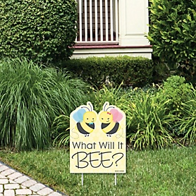 What Will It BEE? - Outdoor Lawn Sign - Gender Reveal Yard Sign - 1 Piece