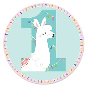 1st Birthday Whole Llama Fun - First Birthday Party Theme