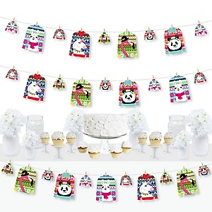 Wild and Ugly Sweater Party - Holiday and Christmas Animals Party DIY Decorations - Clothespin Garland Banner - 44 Pieces