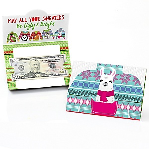 Wild and Ugly Sweater Party - Holiday and Christmas Animals Party Money And Gift Card Holders - Set of 8