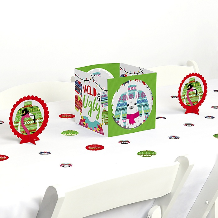 Wild and Ugly Sweater Party - Holiday and Christmas Animals Party Centerpiece & Table Decoration Kit