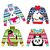 Wild and Ugly Sweater Party - 24 DIY Shaped Holiday and Christmas Animals Party Cut-Outs