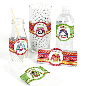 Wild and Ugly Sweater Party - DIY Holiday and Christmas Animals Party Wrappers - 15 ct