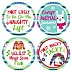 Wild and Ugly Sweater Contest Awards - Holiday and Christmas Animals Party Funny Name Tags - Party Badges Sticker Set of 12