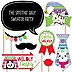 Wild and Ugly Sweater Party - Holiday and Christmas Animals Party Photo Booth Props Kit – 20 Count