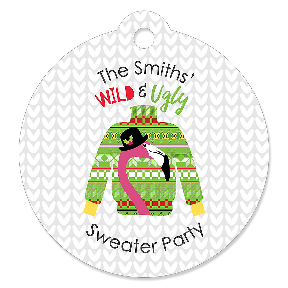 98a5b28de7455a Wild and Ugly Sweater Party - Holiday and Christmas Animals Party Favor  Gift Tags - Set. Double tap to zoom