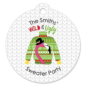 Wild and Ugly Sweater Party - Holiday and Christmas Animals Party Favor Gift Tags - Set of 20
