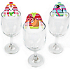 Wild and Ugly Sweater Party - Shaped Holiday and Christmas Animals Party Wine Glass Markers - Set of 24