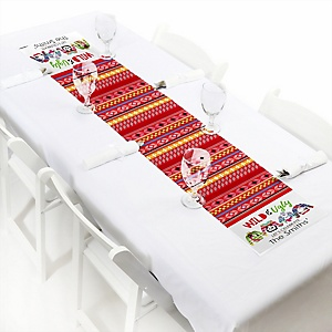 "Wild and Ugly Sweater Party - Personalized Petite Holiday and Christmas Animals Party Table Runner - 12"" x 60"""