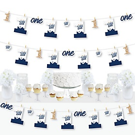 He's a Wild One - 1st Birthday Party DIY Decorations - Clothespin Garland Banner - 44 Pieces