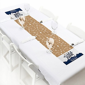 He's a Wild One - Personalized 1st Birthday Petite Table Runner