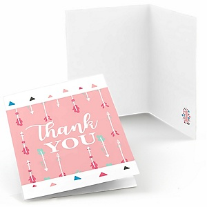She's a Wild One - Boho Floral 1st Birthday Party Thank You Cards - 8 ct