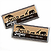 Wild Safari - Personalized Candy Bar Wrapper African Jungle Adventure Birthday Party or Baby Shower Favors - Set of 24