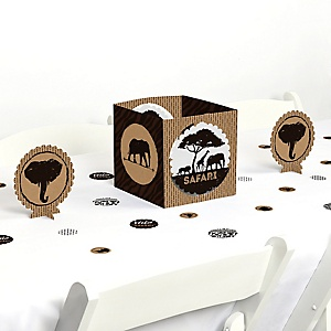 Wild Safari - African Jungle Adventure Birthday Party or Baby Shower Centerpiece and Table Decoration Kit