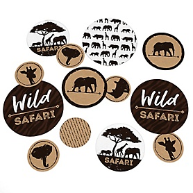 Wild Safari - African Jungle Adventure Birthday Party or Baby Shower Giant Circle Confetti - Party Decorations  - Large Confetti 27 Count