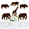Wild Safari - Giraffe, Elephant, Lion and Rhino Decorations DIY African Jungle Adventure Birthday Party or Baby Shower Essentials - Set of 20