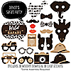 Wild Safari -20 Piece African Jungle Adventure Birthday Party or Baby Shower Photo Booth Props Kit