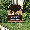 Wild Safari - Party Decorations - African Jungle Adventure Birthday Party or Baby Shower Personalized Welcome Yard Sign