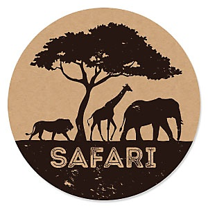 Wild Safari - African Jungle Adventure - Baby Shower Theme