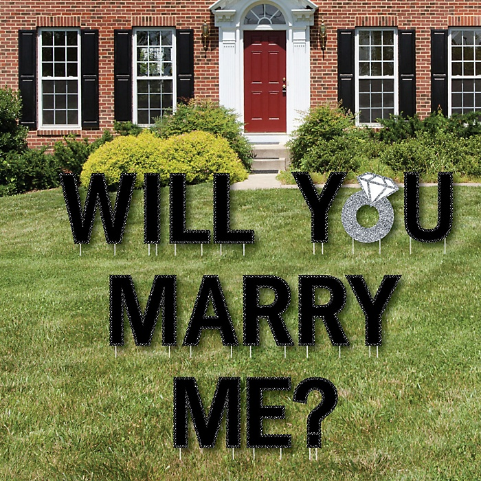 Will You Marry Me? - Yard Sign Outdoor Lawn Decorations - Marriage Proposal Yard Signs