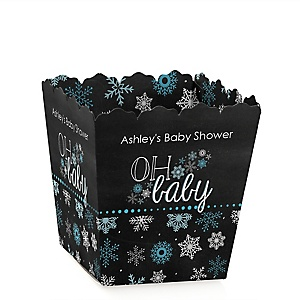 Oh Baby - Winter - Personalized Baby Shower Candy Boxes