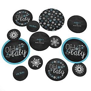 Oh Baby - Winter - Personalized Baby Shower Table Confetti - 27 ct
