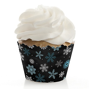 Oh Baby - Winter - Baby Shower Cupcake Wrappers & Decorations