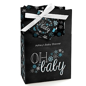 Oh Baby - Winter - Personalized Baby Shower Favor Boxes