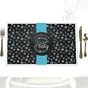 Oh Baby - Winter - Personalized Baby Shower Placemats