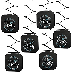 Oh Baby - Winter - Baby Shower Hanging Decorations - 6 ct