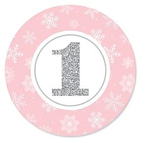 Pink ONEderland - Holiday Snowflake Winter Wonderland - First Birthday Party Theme
