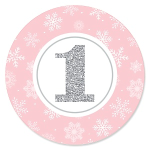 Pink ONEderland - Holiday Snowflake Winter Wonderland - First Birthday Party Theme