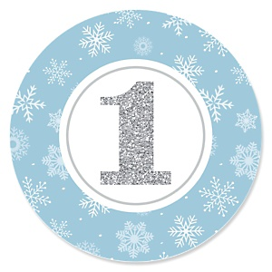 ONEderland - Holiday Snowflake Winter Wonderland - First Birthday Party Theme