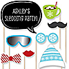 Winter Party - 20 Piece Photo Booth Props Kit