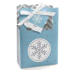 Winter Wonderland - Snowflake Holiday Party & Winter Wedding Gift Boxes - Set of 12
