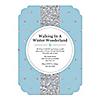 Winter Wonderland - Shaped Snowflake Holiday Party & Winter Wedding Invitations - Set of 12