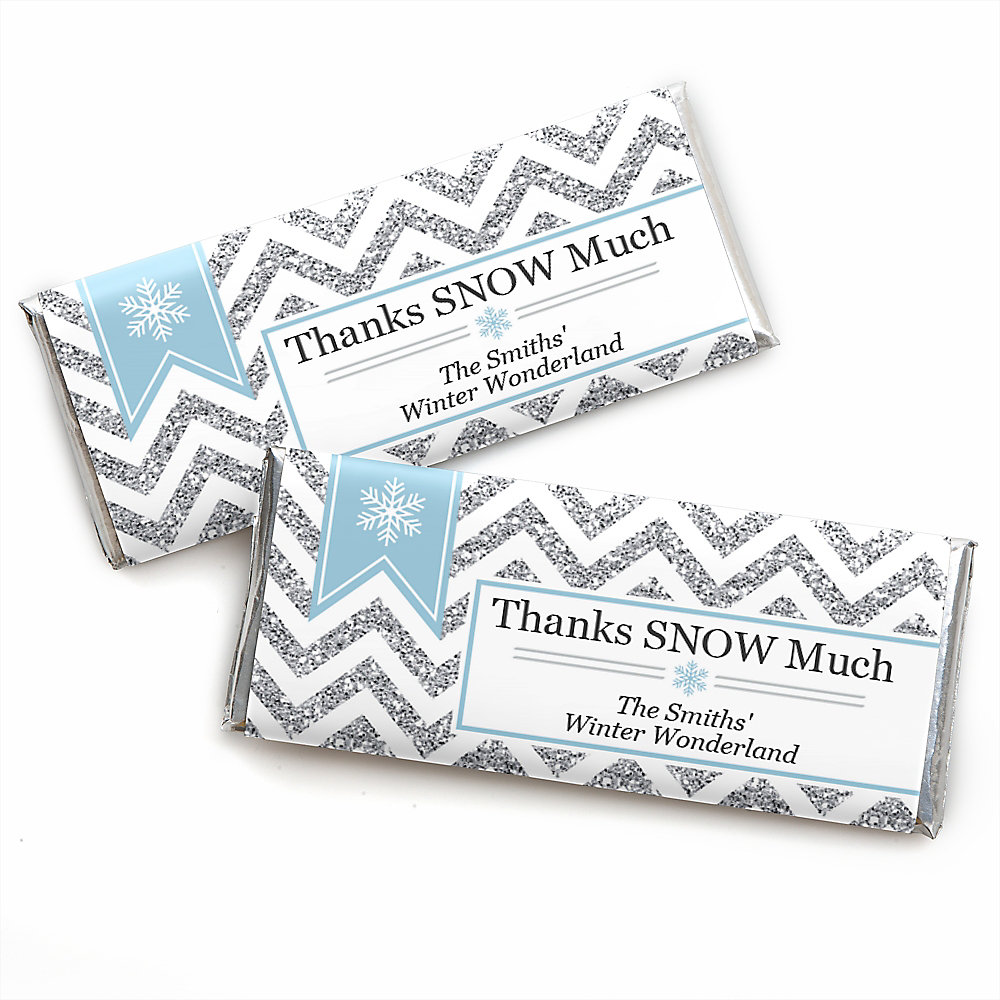 Winter Wonderland - Personalized Candy Bar Wrappers Snowflake ...