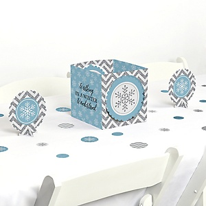 Winter Wonderland - Snowflake Holiday Party & Winter Wedding Centerpiece & Table Decoration Kit