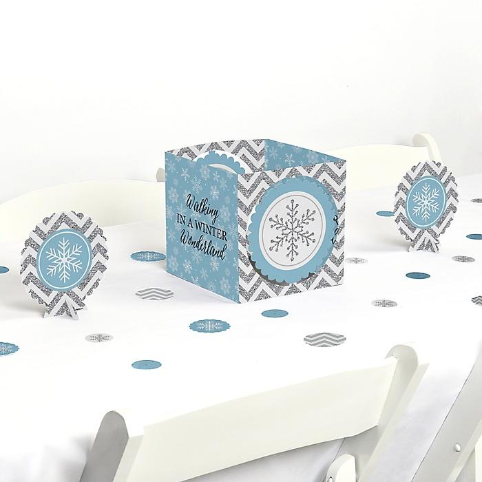 Winter Wonderland - Snowflake Holiday Party & Winter Wedding Centerpiece & Table Decoration Kit